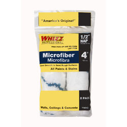 Whizz  Xtrasorb  Microfiber  1/2 in.  x 4 in. W Mini  Paint Roller Cover  2 pk