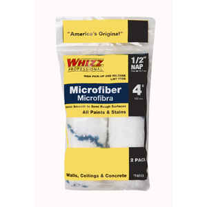 Whizz  Microfiber  1/2 in.  x 4 in. W Mini  Paint Roller Cover  2 pk