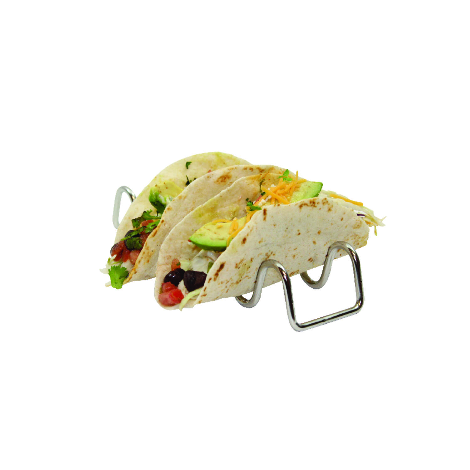 Tablecraft  Taco Taxi  2-1/4 in. W x 7-3/4 in. L Silver  Stainless Steel  Taco Holder