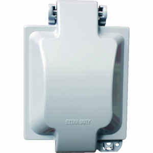Sigma Electric  Square  Metal  2 gang In-Use Cover  For Wet Locations