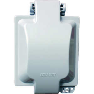 Sigma  Square  Aluminum  2 gang In-Use Cover  For Wet Locations