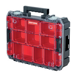Craftsman VERSASTACK 17.25 in. W x 4 in. H Storage Organizer Plastic 10 compartments Black/Red