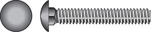Hillman  5/16 in. Dia. x 4 in. L Zinc-Plated  Steel  Carriage Bolt  50 pk