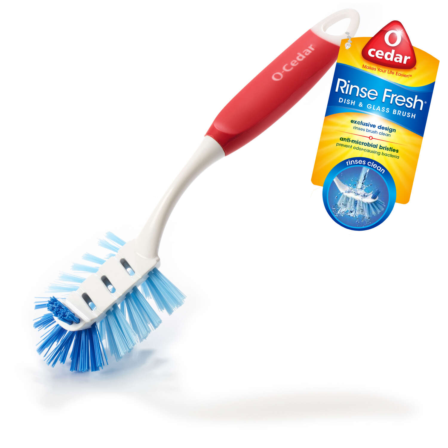 O-Cedar  Rinse Fresh  2.25 in. W Plastic  Scrub Brush