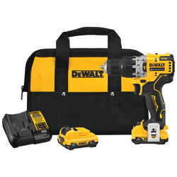 DeWalt  Xtreme  12 volt 3/8 in. Brushless  Cordless Hammer Drill  Kit (Battery & Charger)