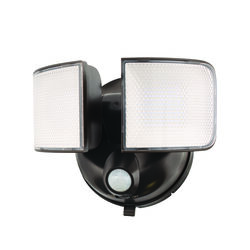 Halo Motion-Sensing Battery Powered LED Bronze Floodlight