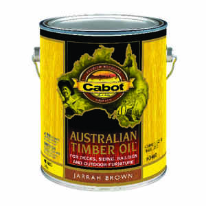 Cabot  Transparent  Jarrah Brown  Oil-Based  Australian Timber Oil  1 gal.