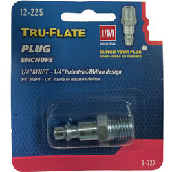 Tru-Flate  Steel  Air Plug  1/4 in. Male  NPT  1 pc.