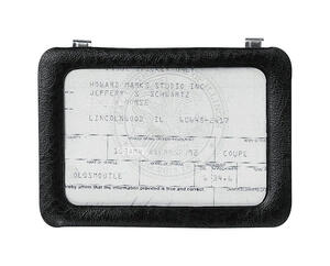 Custom Accessories  Black  Registration Holder  1 pk Used to store certificates, registration, photo