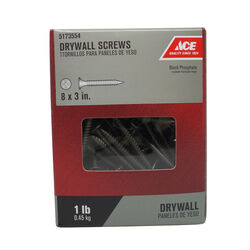 Ace  No. 8   x 3 in. L Phillips  Drywall Screws  1 lb. 94 pk