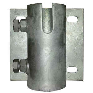 Multinautic  Silver  Galvanized Steel  Multi-Anchoring Leg Holder