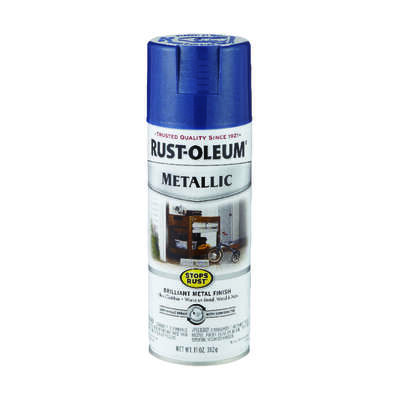 Rust-Oleum  Stops Rust  Cobalt Blue  Metallic Spray Paint  11 oz.
