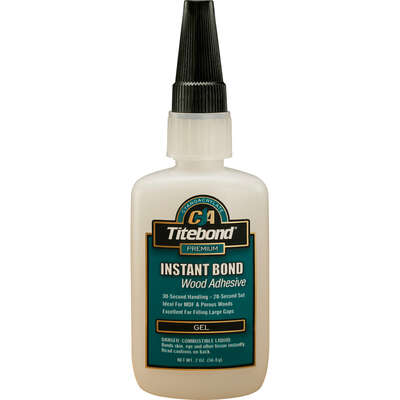 Titebond Instant Bond Translucent Wood Adhesive Gel 2 oz.
