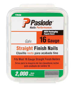 Paslode  16 Ga. Smooth Shank  Straight Strip  Finish Nails  1-1/2 in. L x 1.25 in. Dia. 2000 pk