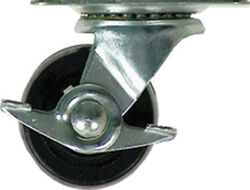 Shepherd 3 in. Dia. Swivel Soft Rubber Caster 175 lb. 1 pk