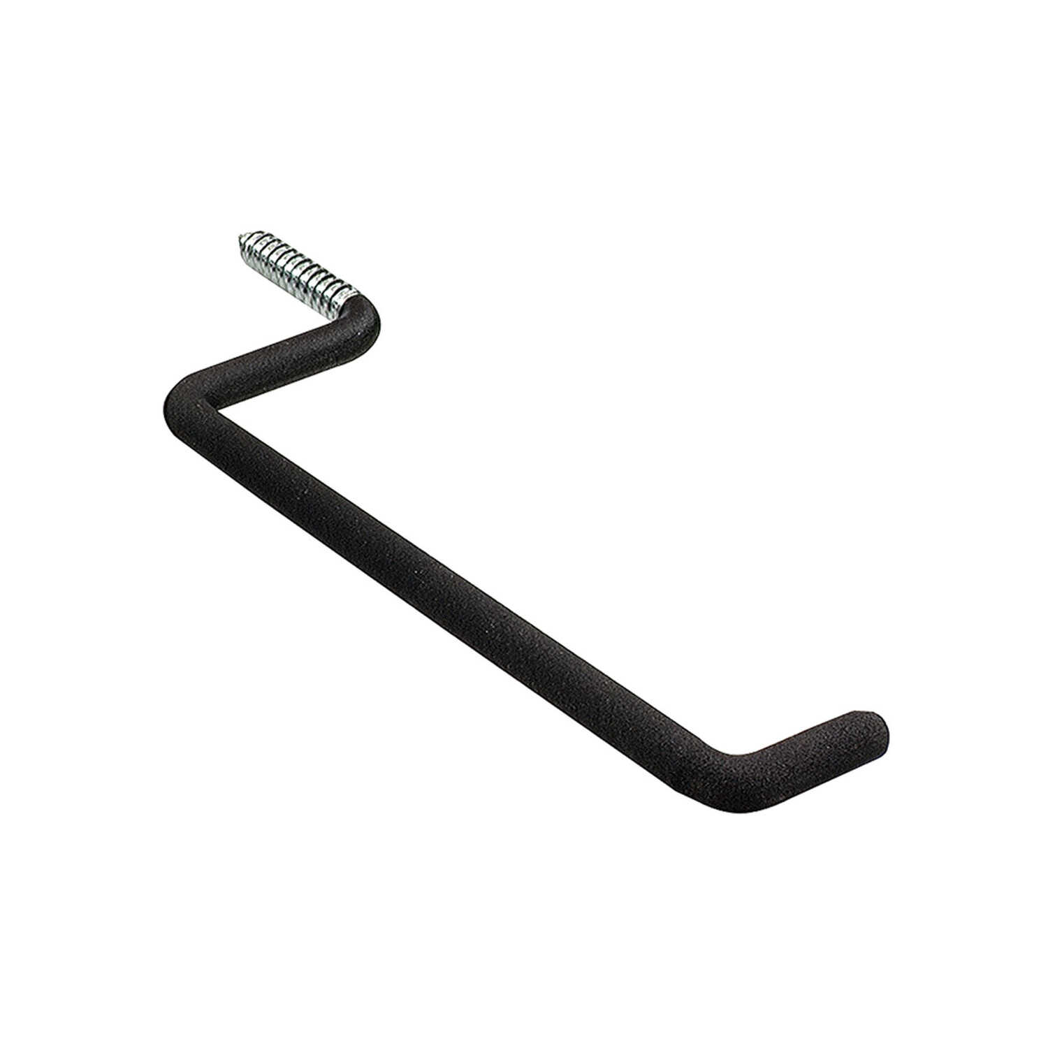 Crawford  7 in. L Black  Steel  Large  Vinyl Coated  50 lb. capacity 1 pk Ladder Hook