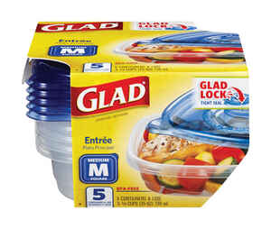 Glad  25 oz. Food Storage Container  5 pk Clear