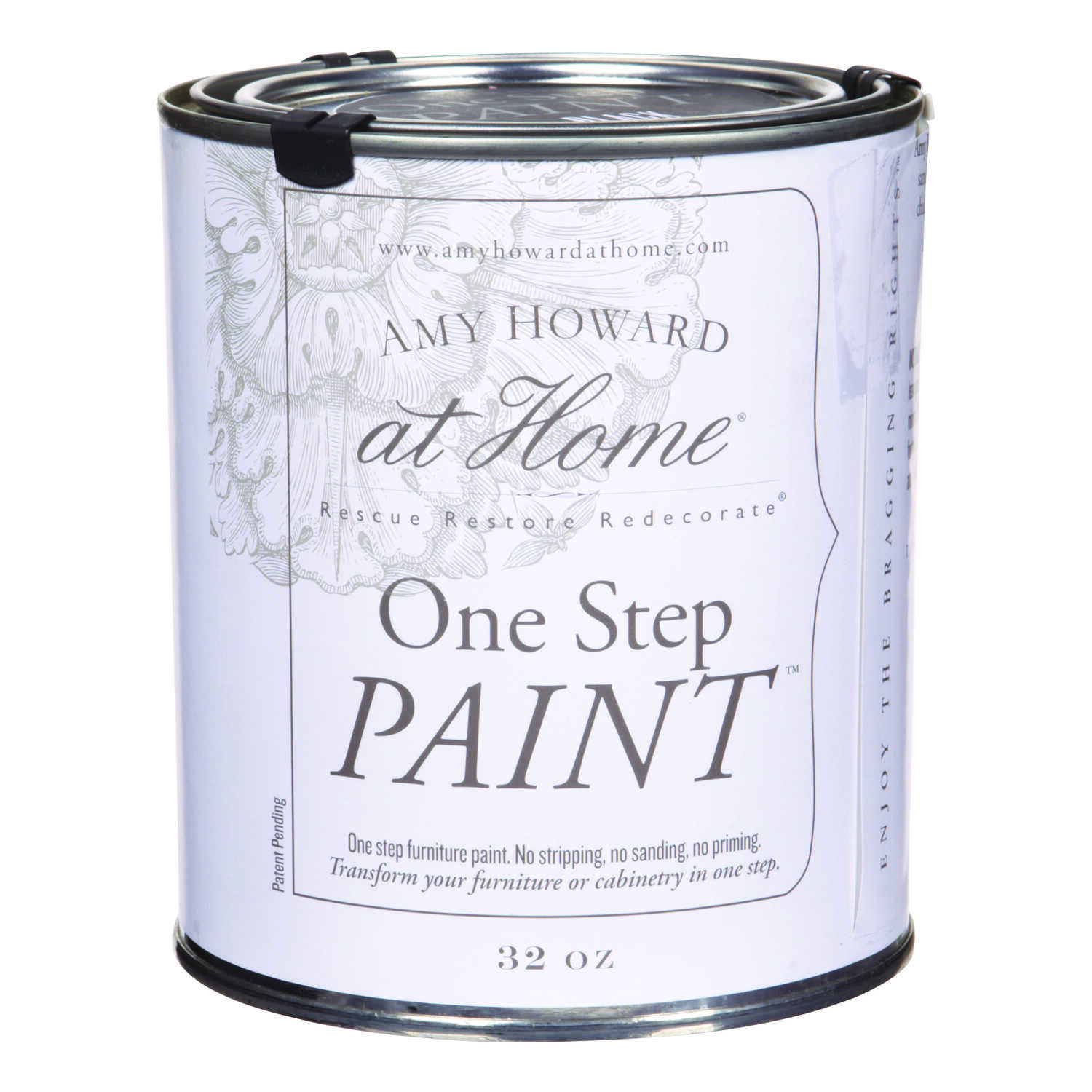 Amy Howard at Home  Flat Chalky Finish  Latex  One Step Paint  32 oz. Black