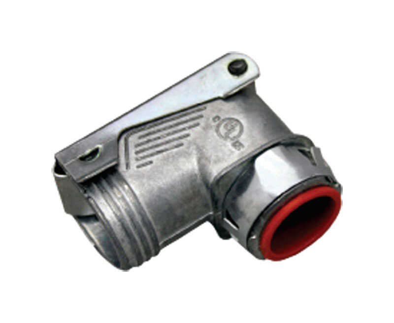 Sigma Electric ProConnex  3/8 in. Dia. Die-Cast Zinc  Flex Angle Connector  For AC, MC and FMC/RWFMC