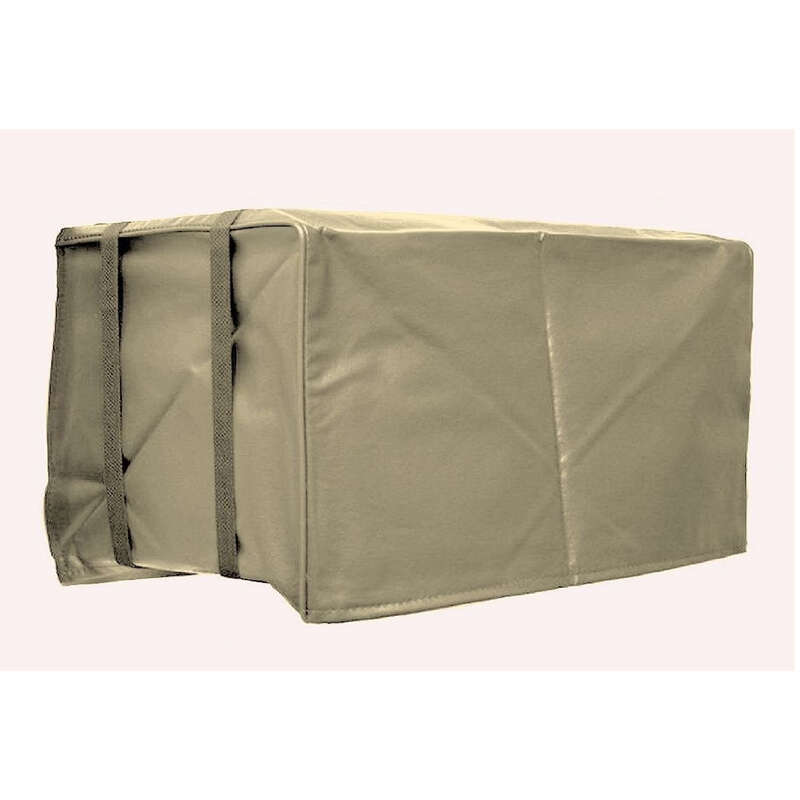 AC Safe  14 in. H x 21 in. W PVC  Tan  Square  Outdoor  Air Conditioner Cover