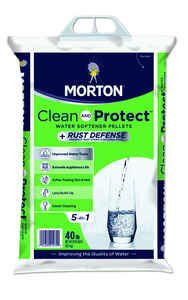 Morton Salt  Rust Remover  Water Softener Salt  Pellets  40 lb.
