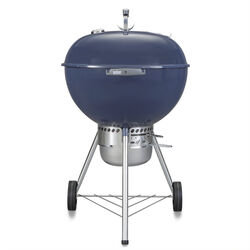 Weber  22 in. Original Kettle  Charcoal  Grill  Indigo Blue