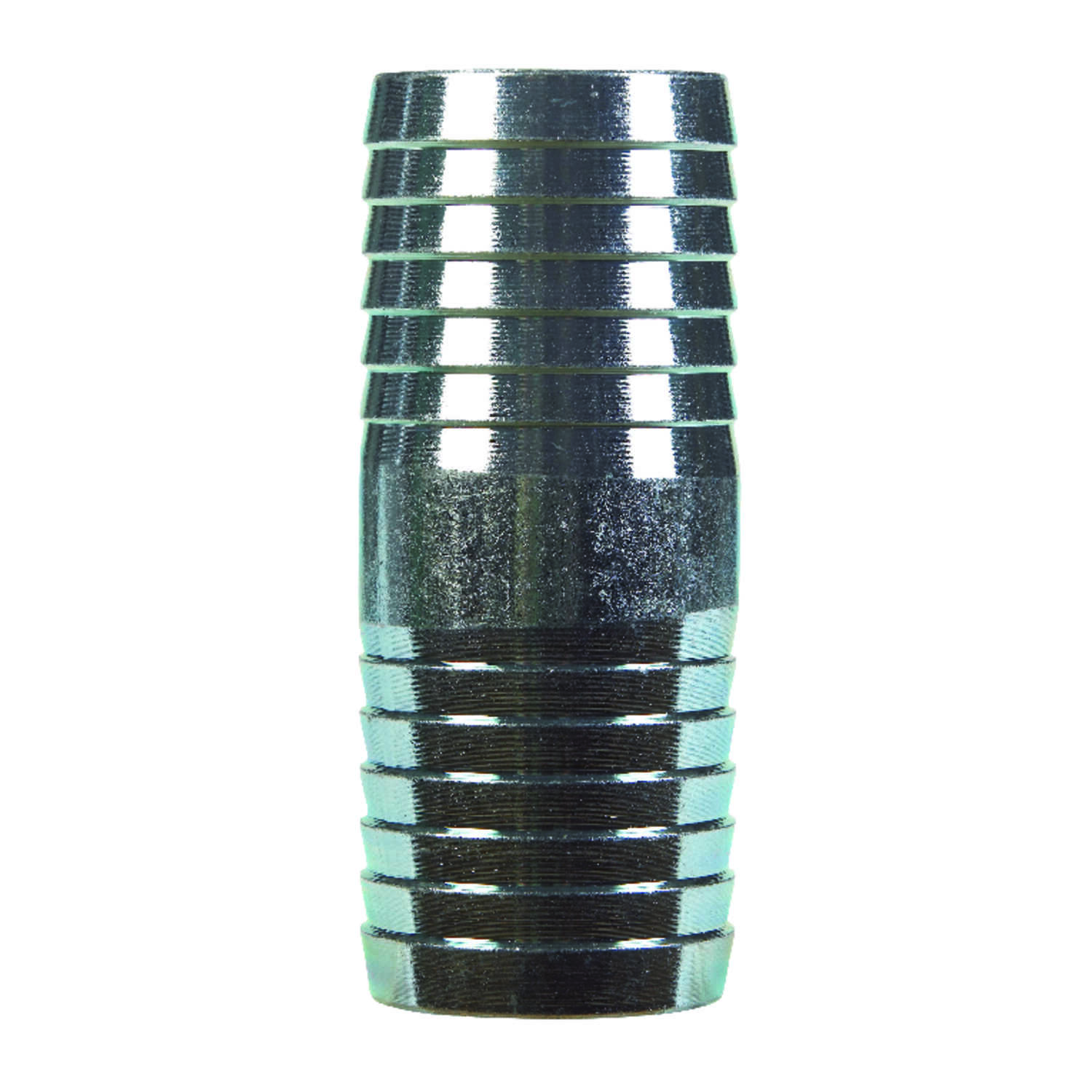 B & K  1-1/4 in. Barb   x 1-1/4 in. Dia. Barb  Galvanized  Galvanized Steel  Coupling