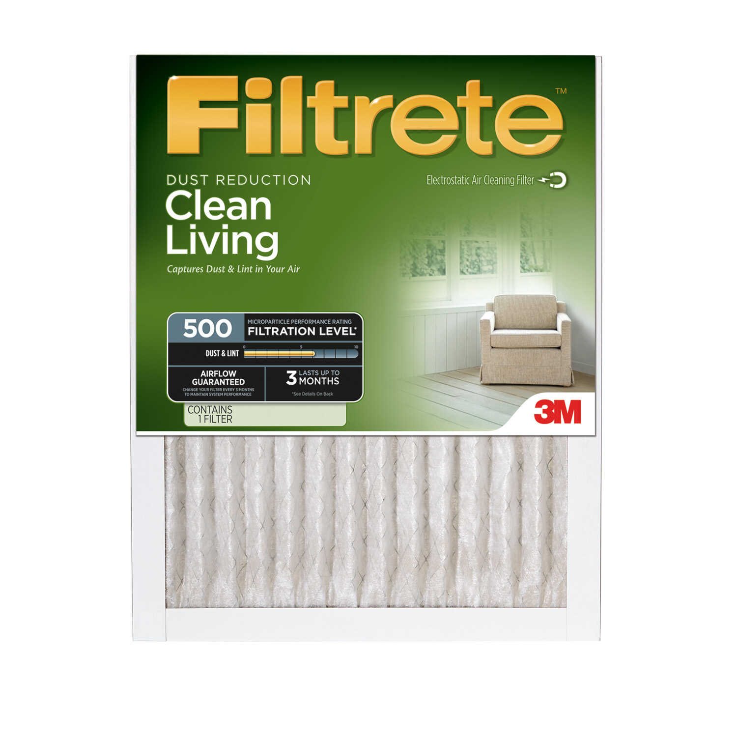 3M  Filtrete  12 in. H x 24 in. W x 1 in. D Air Filter