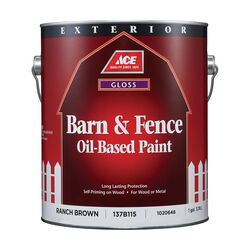 Ace Gloss Ranch Brown Oil-Based Barn and Fence Paint Exterior 1 gal.