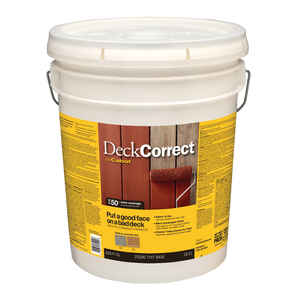 Cabot  Solid  Tint Base  Water-Based  Latex  Deck Stain  5 gal.