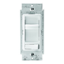 Leviton  SureSlide  White  600 watt Preset Slide  Dimmer Switch  1 pk