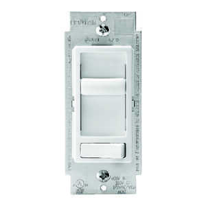 Leviton  SureSlide  White  600 watts Preset Slide  Dimmer Switch  1 pk