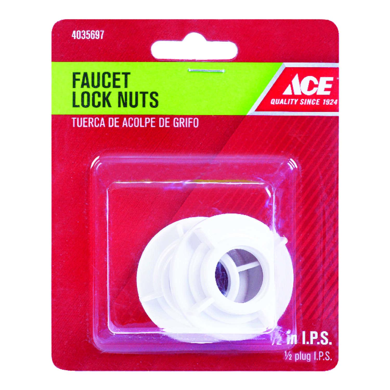 ace 1 2 in plastic sae faucet lock nut 2 pk