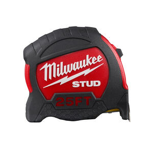 Milwaukee  STUD  25 ft. L x 2.24 in. W Closed Case  Tape Measure  Red  SAE  1 pk