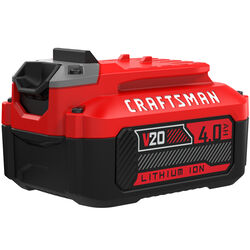 Craftsman  20V MAX  20 volt 4 Ah Lithium-Ion  High Capacity Battery Pack  1 pc.