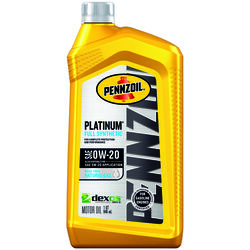 PENNZOIL  Platinum  0W-20  4 Cycle Engine  Synthetic  Motor Oil  1 qt.