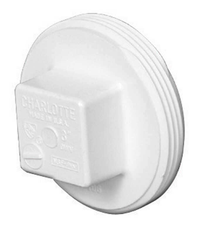 Charlotte Pipe  Schedule 40  2 in. MPT   x 2 in. Dia. MPT  PVC  Clean-Out Plug