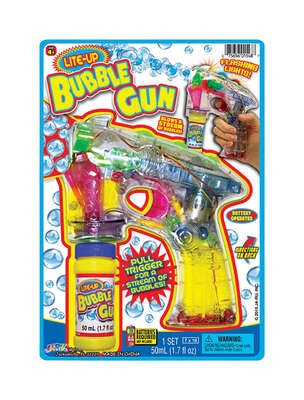 Ja-Ru  Lite Up Bubble Gun  Plastic  Clear  2 pc.