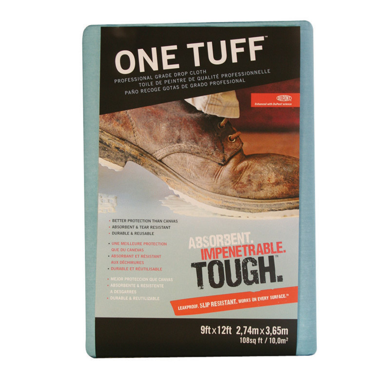One Tuff  Heavy Weight  Paper  12 ft. L x 9 ft. W Drop Cloth