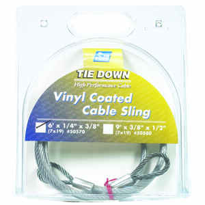 Tie Down Engineering  Clear Vinyl  Galvanized Steel  1/4 in. Dia. x 6 ft. L Cable Sling