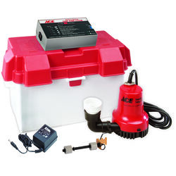 Ace  1/4 hp 2,000 gph Thermoplastic  Dual Reed  Battery  Backup Sump Pump