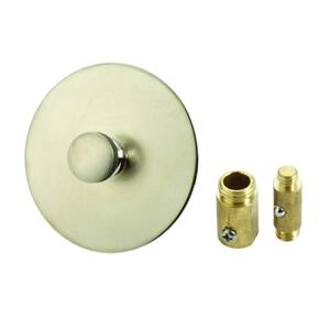 Ace  Multi-Size in. Dia. Brushed Nickel  Nickel  Tub Stopper