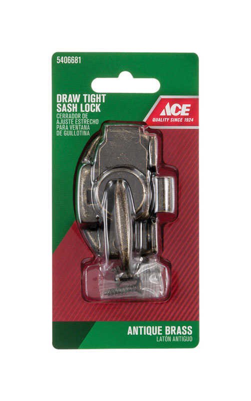 Ace  Bronze  Brass  Window Lock  1 pk