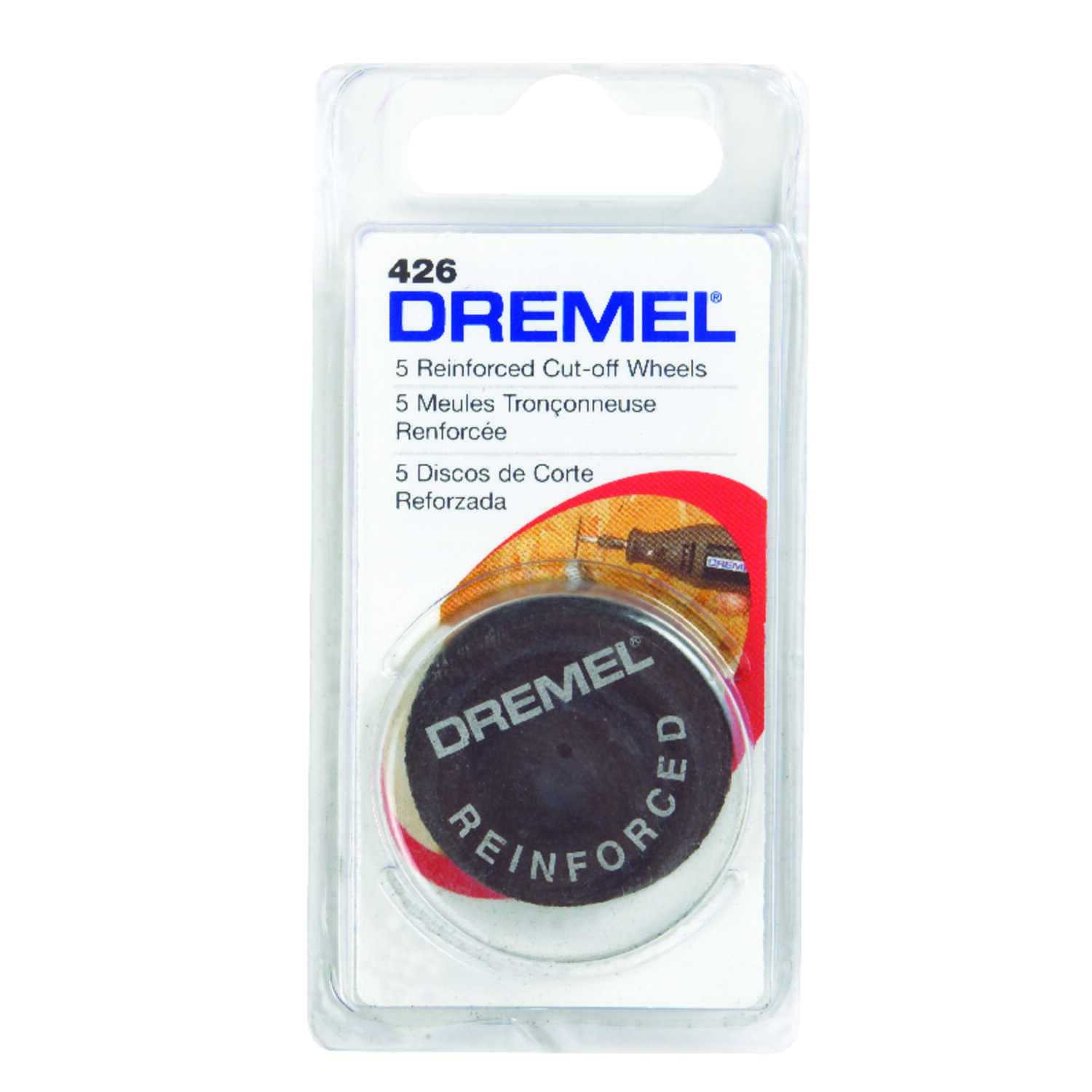 Dremel  1-1/4   x 1-1/4 in. L x 1-1/4 in. Dia. Fiberglass  Reinforced Cut-Off Wheels  5 pk