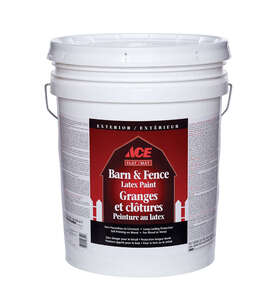 Ace  White  Water-Based  Latex  5 gal. Flat  Barn and Fence Paint