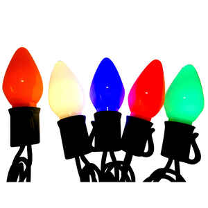 Celebrations C7 Led Christmas Light Set Multicolored 24 5 Ft 50 Lights