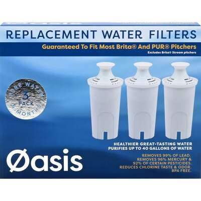 Oasis  Water Pitcher  Replacement Water Filter  For Brita and PUR