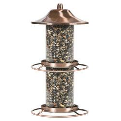 Perky-Pet  Wild Bird  4.5 lb. Copper  Panorama  Bird Feeder  2 ports