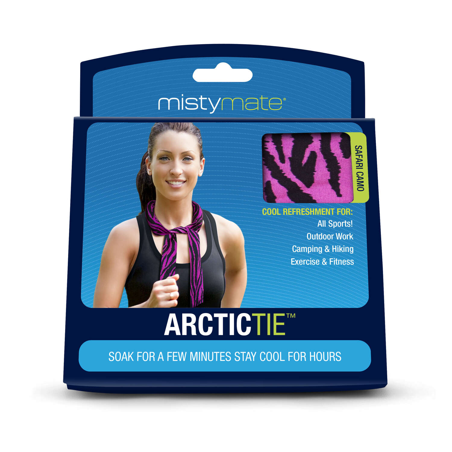 Misty Mate  Arctic Tie Cooling Neck Wrap  1 pk Blue and Pink