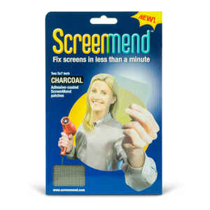 ScreenMend  Charcoal  Fiberglass  Screen Repair Patch  5 in. W x 7 in. L 2 pk